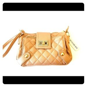 Gold Wrist Bag/Clutch. Brand New with Tag